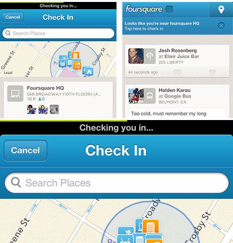 Foursquare-faster-check-in