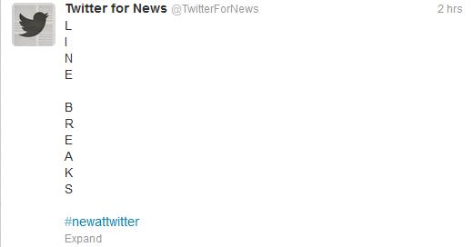 Twitter-line-breaks