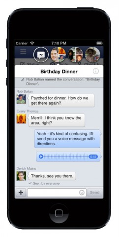 Facebook iOS Chat heads
