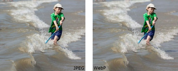 Facebook jpeg vs webp