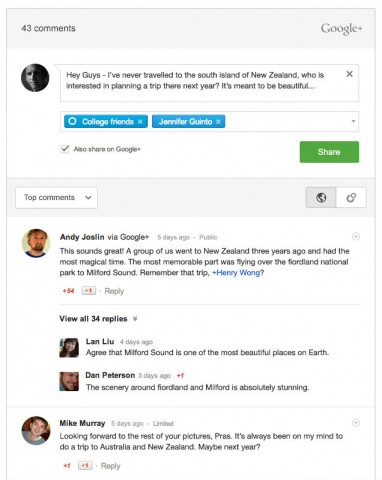 Google+ comments into Blogger