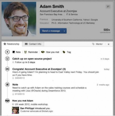 LinkedIn new contacts