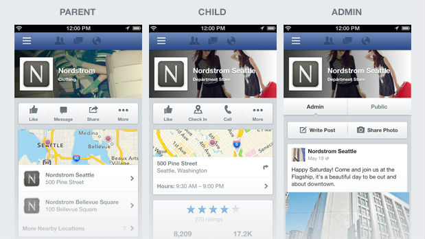 new facebook pages design