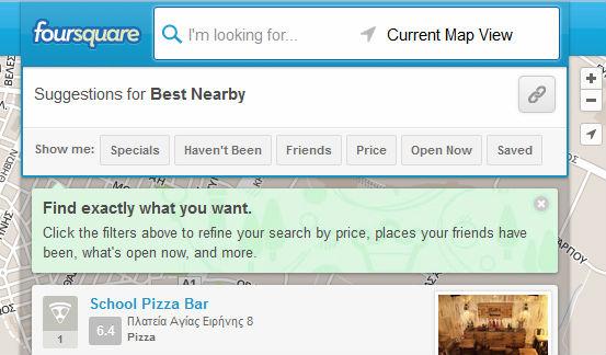 Foursquare filters