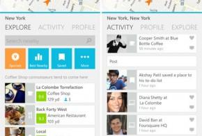 foursquare windows phone 8