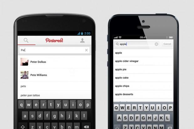 pinterest app better search