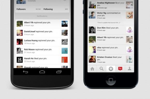 pinterest app notifications
