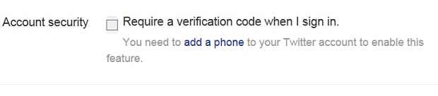 twitter login verification