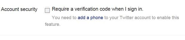 twitter login verification