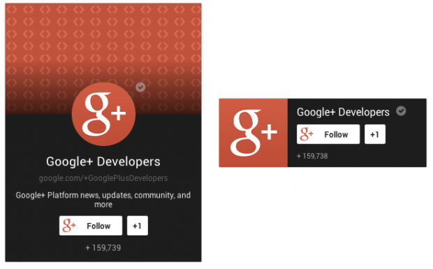 Google + page badge