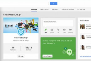 Google Plus Dashboard