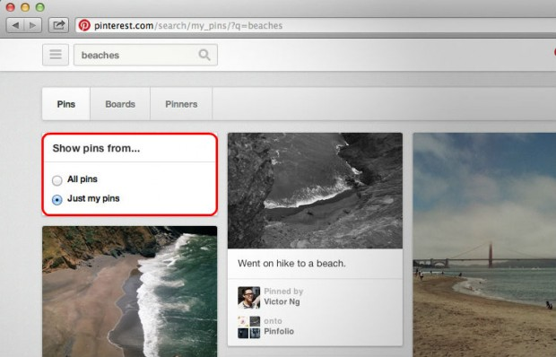 Pinterest search your pins