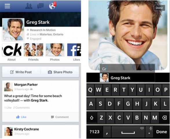 facebook app for blackberry 10