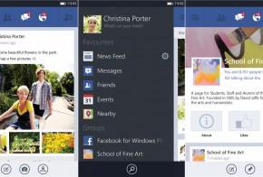 Facebook windows phone 8 app