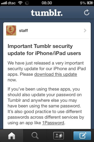 tumblr vulnerability for ios