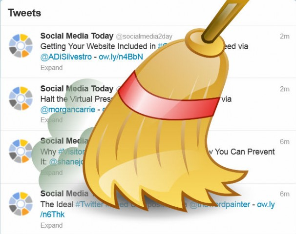 twitter how to clear out feed