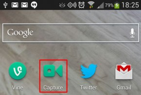 vine capture widget for android