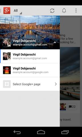 Google Plus switch accounts