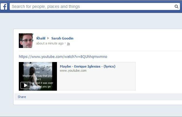Khalil Shreateh facebook post to Sarah Goodin