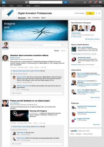 LinkedIn groups new appearance