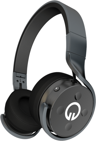 Muzik Black Headphones
