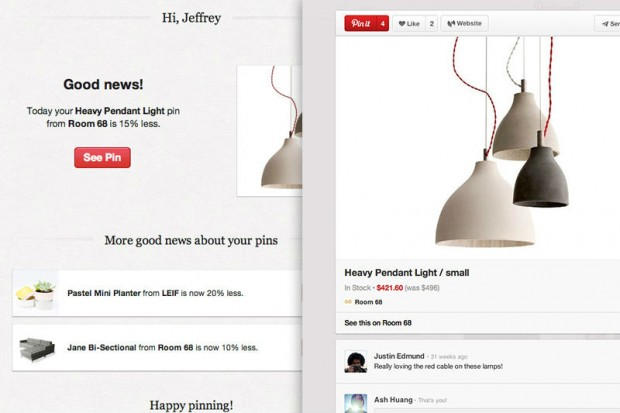 Pinterest informs about sales