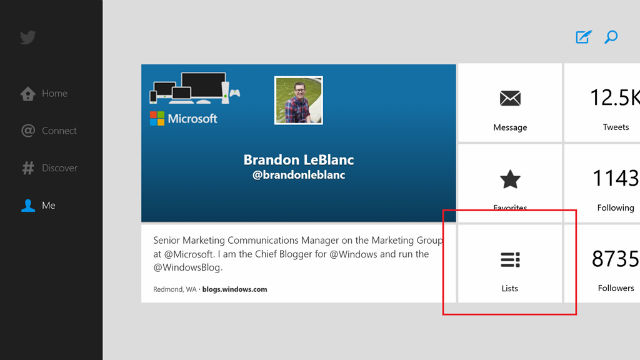Twitter for windows 8 becomes faster and more functional