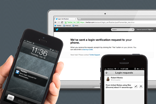 Twitter improved login verification