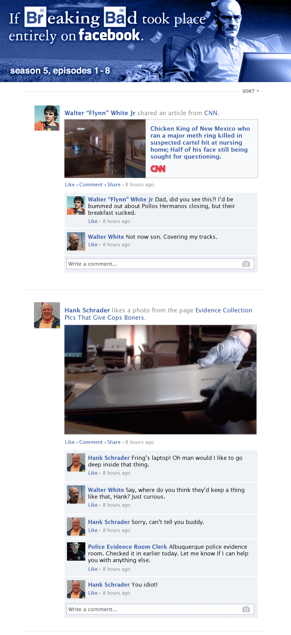 breaking bad on facebook - season 5a