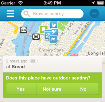 foursquare check-in details
