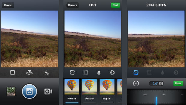 instagram straightening for iOS
