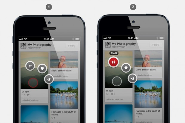 pinterest shortcut pinning for ios app