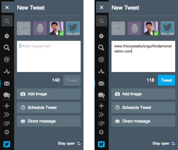 tweetdeck tweet links shortening