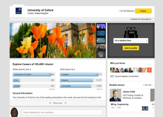 university of oxford - LinkedIn University Pages