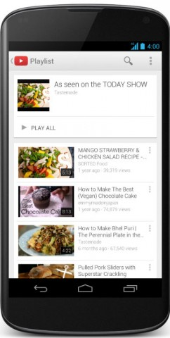 youtube updates android and ios apps