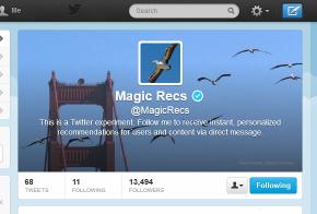 Magic Recs Twitter account