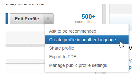 create a secondary language profile in linkedin 1