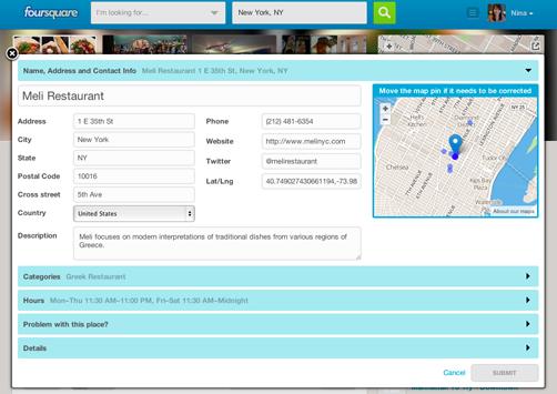 foursquare editing tools