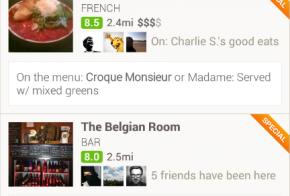 foursquare explore food
