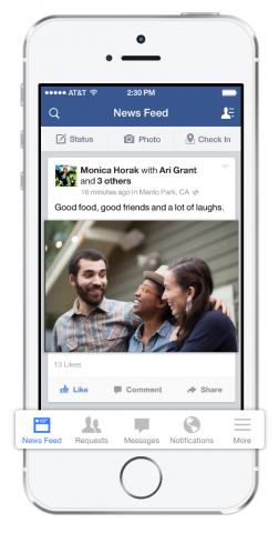 new facebook app for ios 7