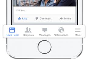 new facebook app for ios 7 feat