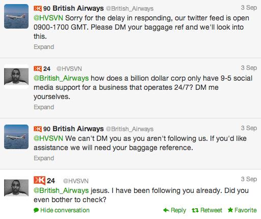 twitter british airways response