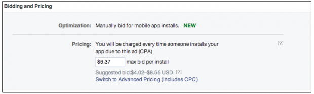 facebook cpa for mobile app ads