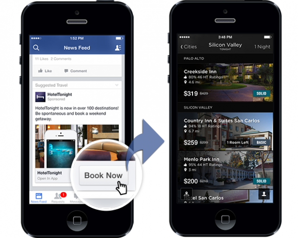 facebook more call to action options for mobile ads