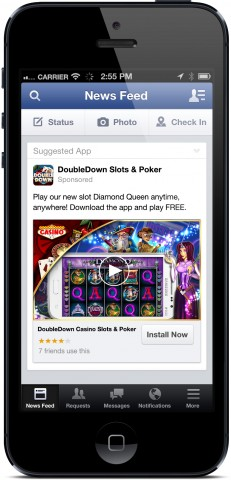 facebook video for mobile app ads