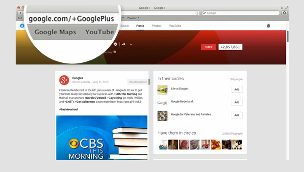 google plus custom url for profile or page