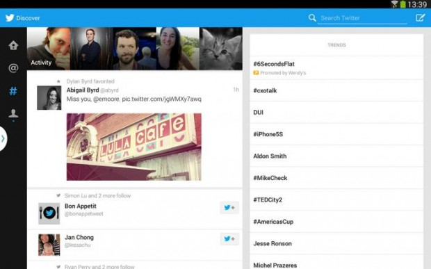 twitter app for android tablets