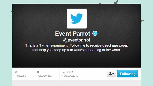 twitter event parrot