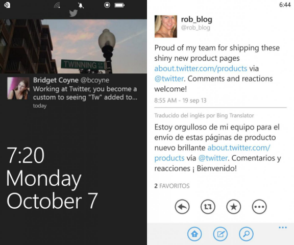 twitter for windows phone update