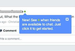 facebook green presence dot feat